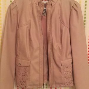 NWOT Jessica Simpson faux leather jacket